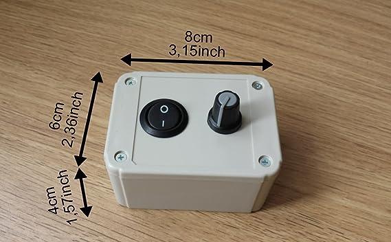 Regulador de velocidad para motor de Ventilador o extractor - 230 V 1000 W: Amazon.es: Bricolaje y herramientas