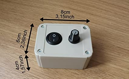 Regulador Regulador de velocidad para motor Ventilador extractor con regulador de intensidad 1000W-230 V