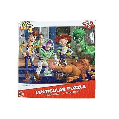 Toy Story 3 48 Piece Lenticular Puzzle - Woody, Buzz, Jessie, Rex, & Bullseye: Toys & Games