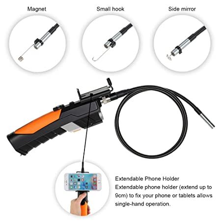 Amazon.com: 1m/3m 8.5mm hd Mini Camcorder 720p WiFi & USB Industrial Endoscope borescope Inspection Camera Waterproof Mini Camera with 6 led: Camera & Photo