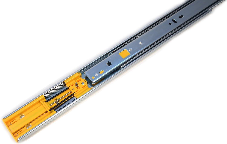 Soft-Close Schubladenf/ührung mit Push to Open Vollausz/üge Teleskopschiene 300mm