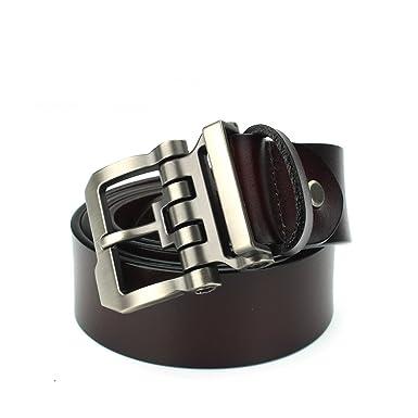 100% cuir de vache véritable ceintures pour homme Marque Sangle mâle à  broches Boucle vintage 25f534de4050