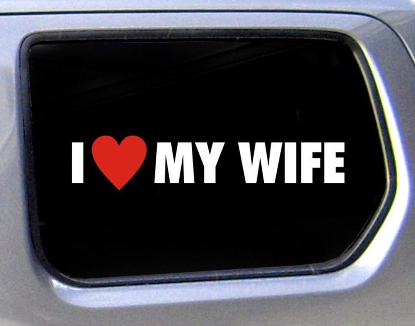 1 set radiant unique funny i love my wife car window stickers family married vinyl decal badge laptop patches decor luggage home art wall graphics sticker