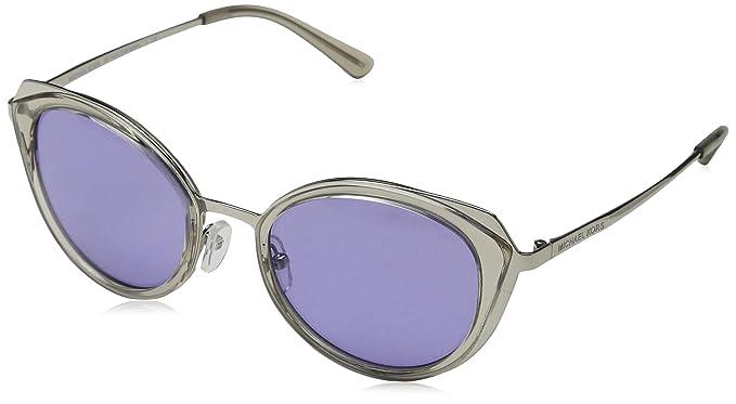 Michael Kors 11371A Gafas de sol, Shiny Silver/Grey ...