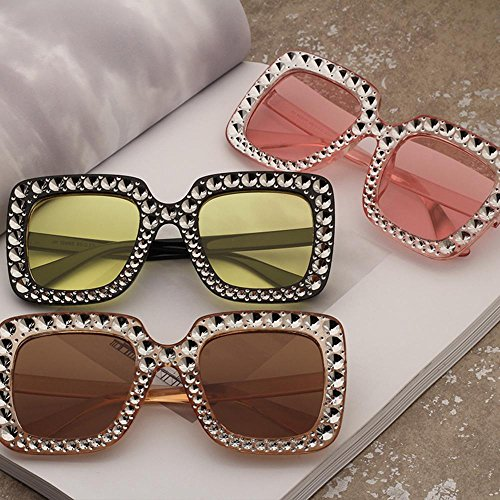 para de f sol mujer sol estilo americano y para Mirror de marco RDJM Trend Gafas Opcional grande Multicolor europeo Frog Gafas c CwtvqAq1