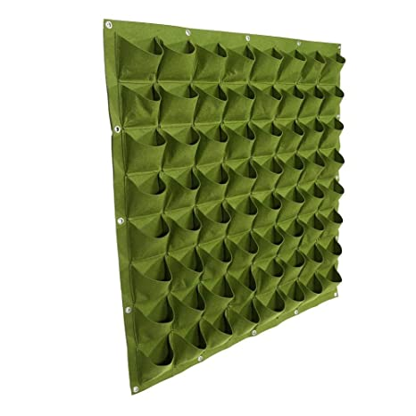 Bolsas para plantas colgantes de pared con 64 bolsillos ...