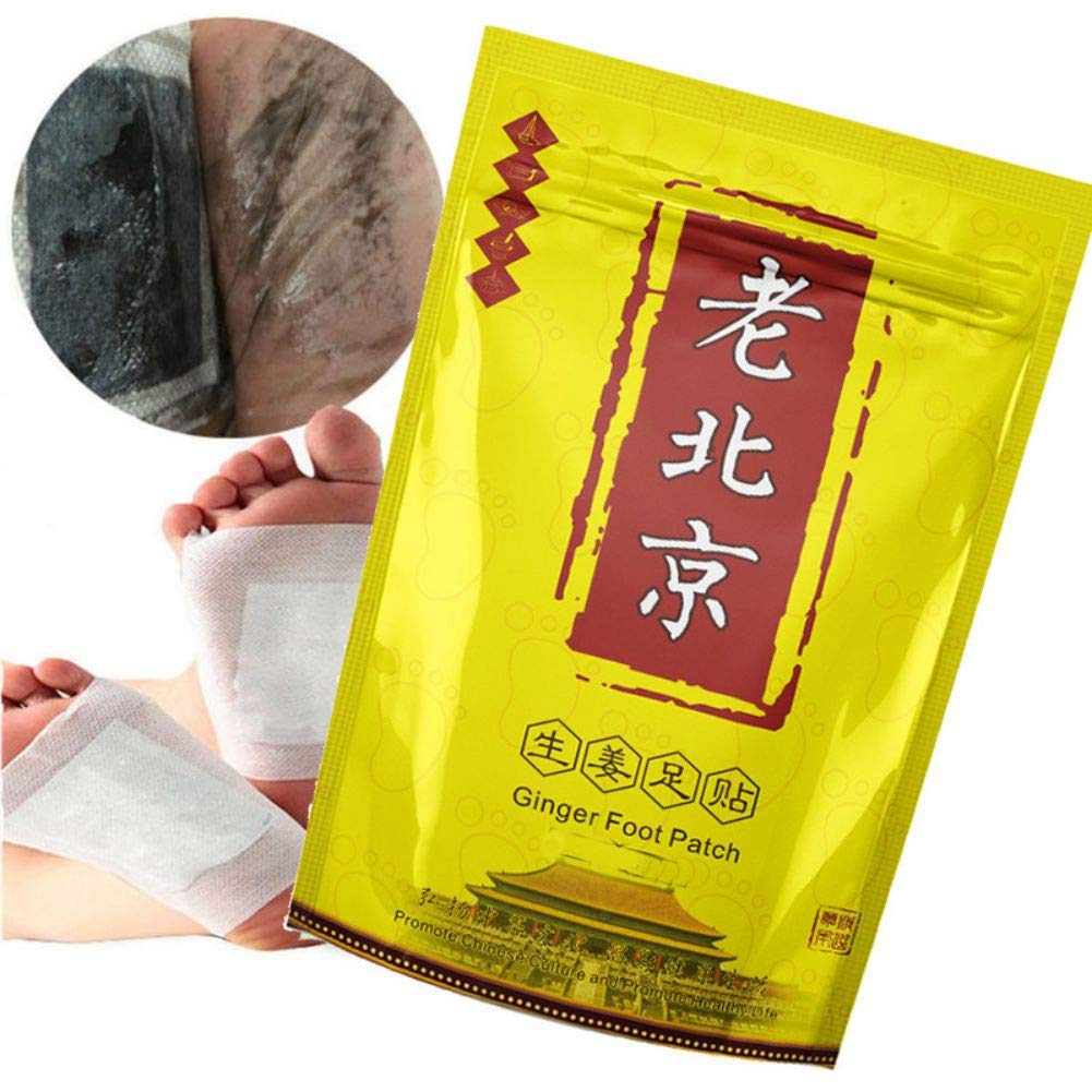 10 Pcs Anti-Swelling Ginger Foot Pads For Pain & Tiredness Relief, Good Sleep and Healthy Foot Novobey