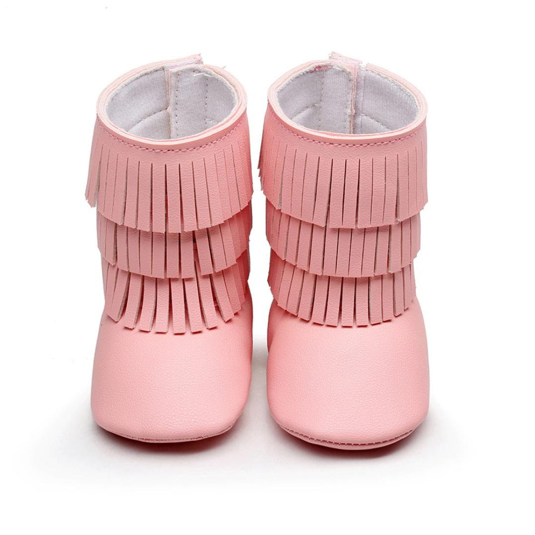 Witspace Infant Baby Boy Girl Tassels Fringed Shoes Newborn Kids Soft Sole Bottom Anti-slip Boots