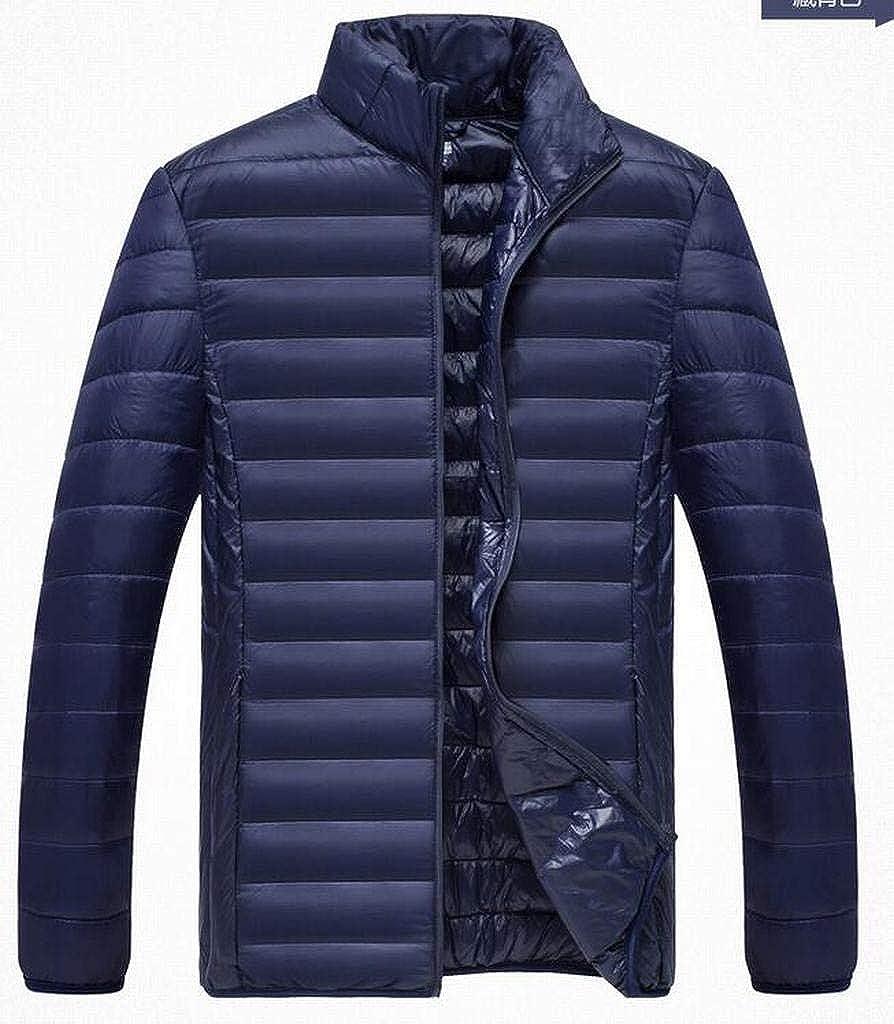 MMCP Mens Stand Collar Packable Winter Warm Down Puffer Coat Jacket Outwear
