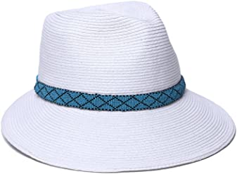 83f5b4fb Physician Endorsed Women's Regent Asymmetrical Brim Beaded Trim Hat with  Rated Upf 50+