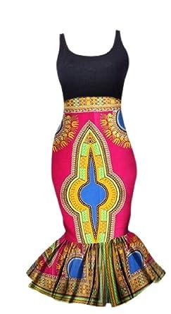 ShuangRun Falda de Cola de Sirena Tradicional Africana, para ...