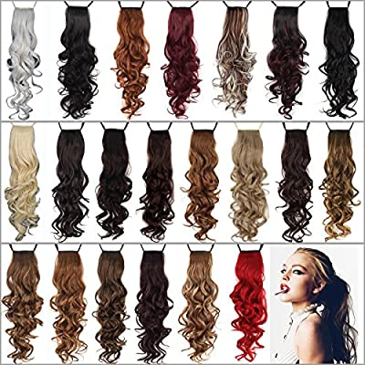 "Miss U Hair 24""/60cm 120g Ladies Synthetic Long Curly Ribbon Drawstring Ponytails Hairpiece Clip in on Hair Extensions 21colors"