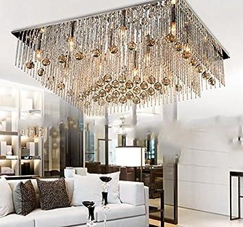 Einfache Rechteckige Wohnzimmerlampe Kristall Lampen LED Deckenleuchte 9570cm