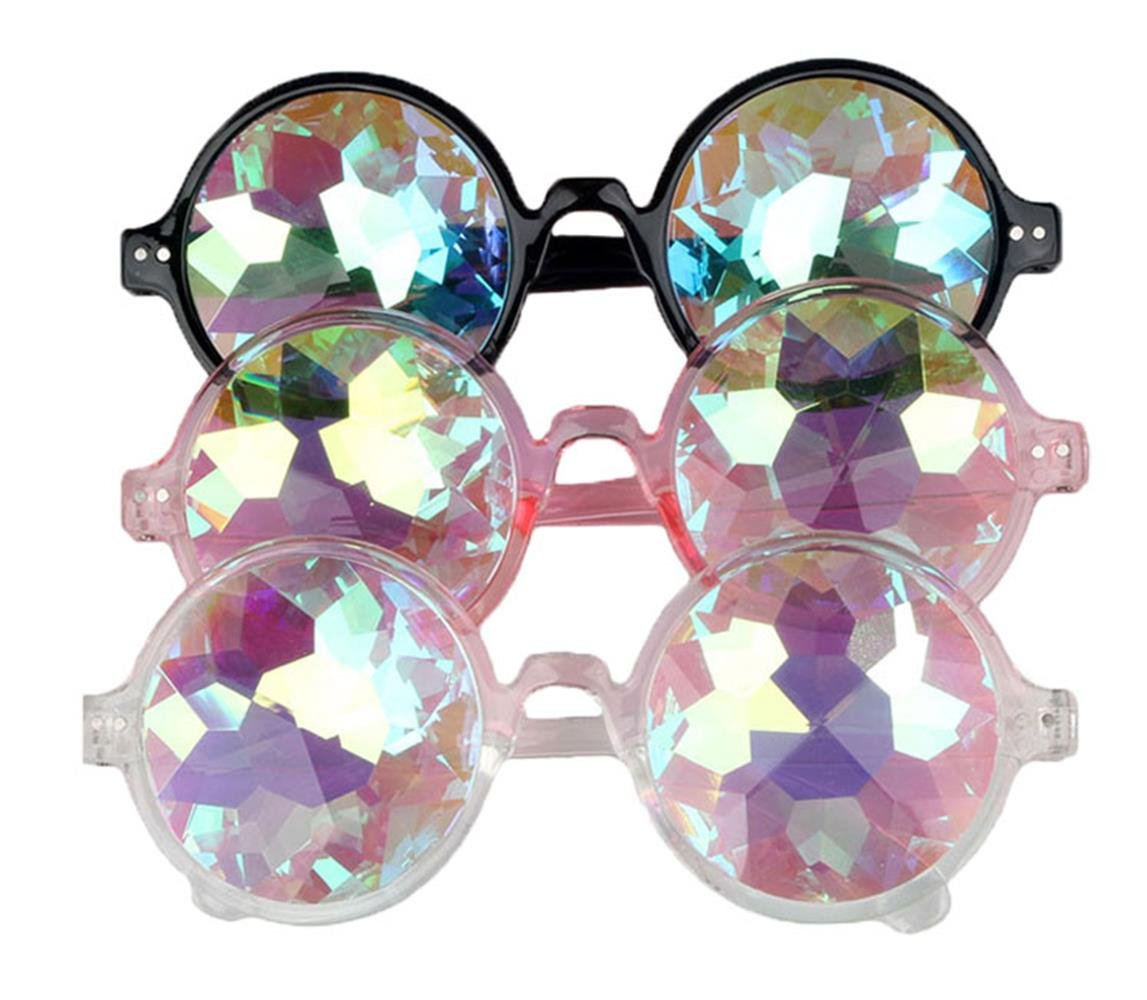 FUT Premium Kaleidoscope Hallowmas Cosplay Goggles, Best Rave Diffraction Crystal Lenses Kaleidoscopic Prism Glass For Festival, Party, Christmas