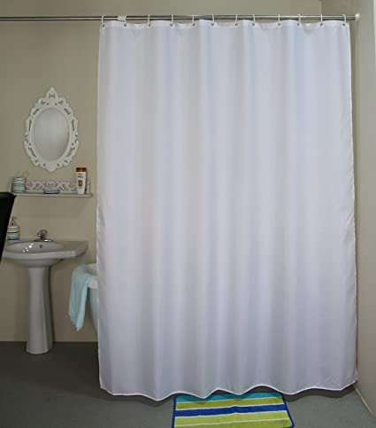 Amazon.com: Welwo 84-inches Extra Long Shower Curtain, Fabric Shower ...