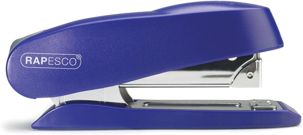 Silber Rapesco 0736 Luna Halbstreifen B/üroheftger/ät mit Vorlademechanismus Typ 24 und 26//6-8mm Heftklammern