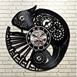 Handmade Solutions EU Steampunk Chameleon Vinyl Wall Clock Ornament Gifts for Her Women Bedroom Accessories Room Decor… 8