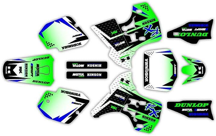 Amazon レーシンググラフィックキット Kawasaki Kx 500 Mx グラフィックデカール Kx500 04 Shift バイク用ステッカー デカール 車 バイク