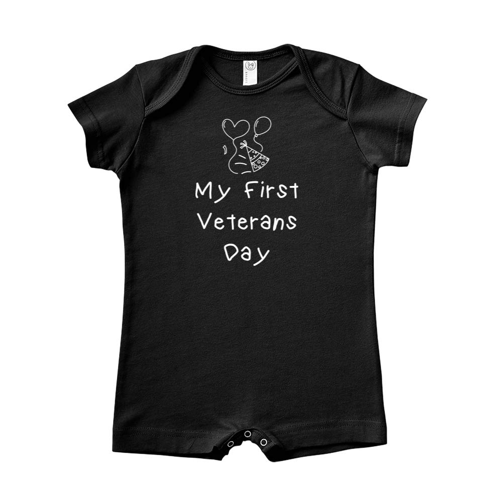 Baby Romper Party Hat /& Balloons Mashed Clothing My First Veterans Day