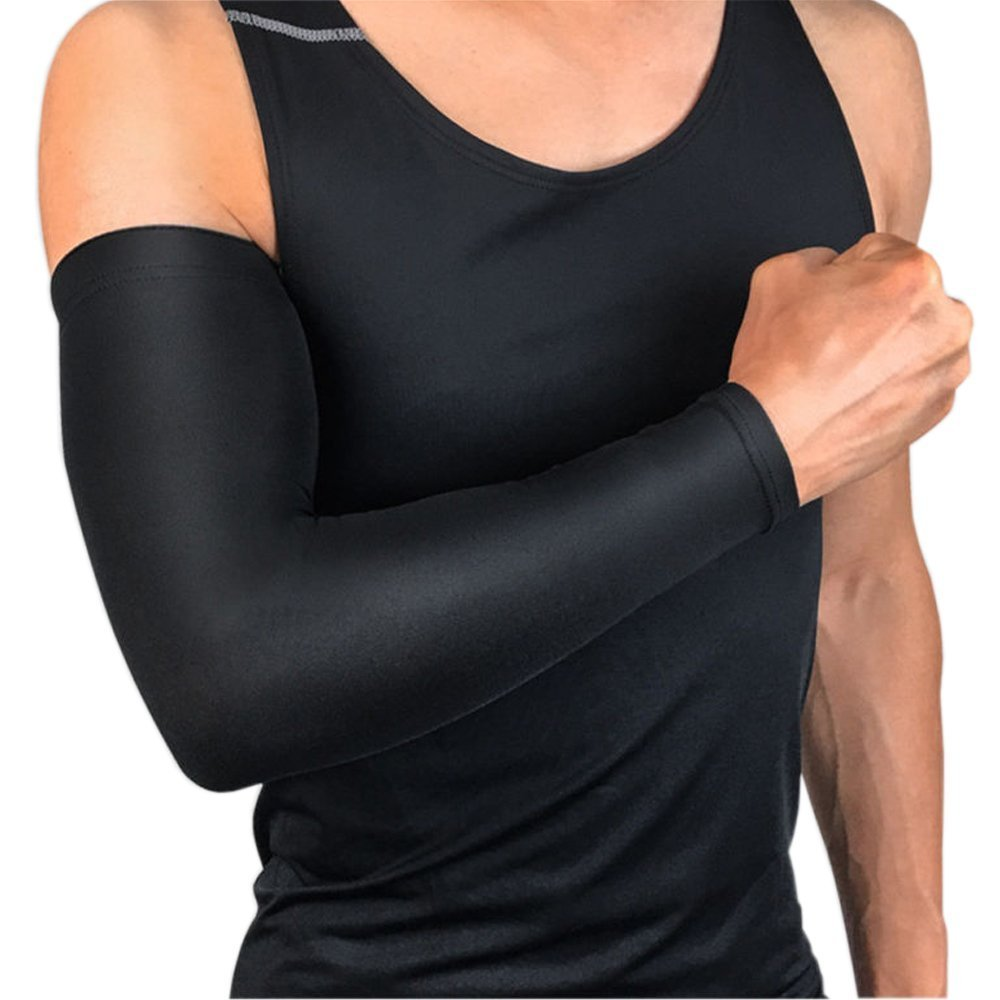 Amazon.com  UV Protection Cooling Arm Sleeves - UPF 50 Long Sun Sleeves for  Men   Women. (Medium size and Large size) (Large e5e22ea64