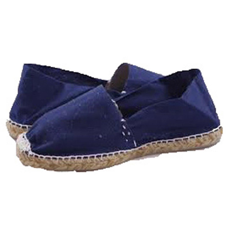 Alpargatas de Esparto Plana Made in Spain en Azul Marino: Amazon.es: Zapatos y complementos