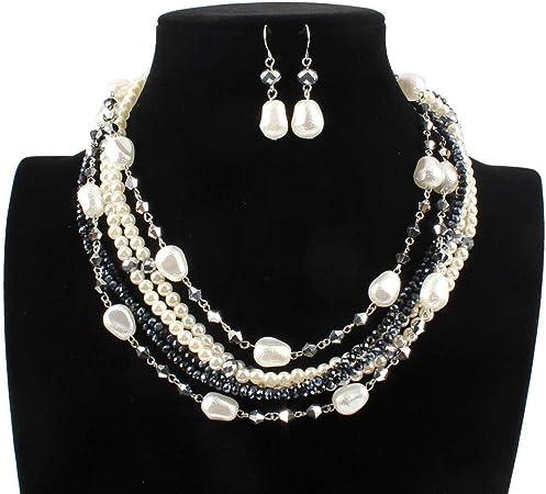 gros collier femme perle