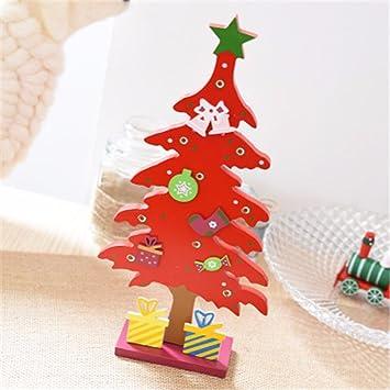 hongxin wooden christmas tree decorations gift table desk office home santa claus snowman christmas ornaments navidad