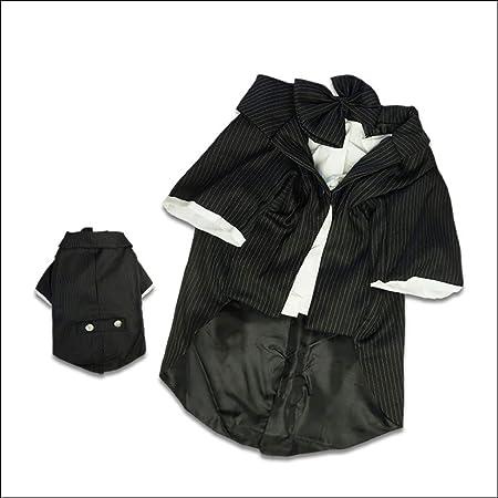 WHZWH - Camisa para Perro, diseño a Rayas, Color Blanco y Negro, con Pajarita Negra, puños Sueltos, Tela Suave y cómoda, XL: Amazon.es: Hogar