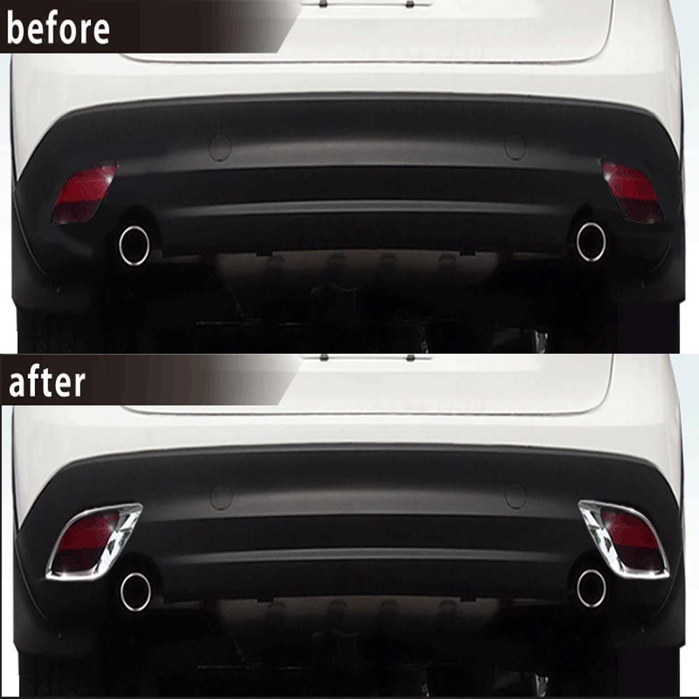 Autohelena/New 2pcs Chrome Rear Fog Light Lamp Frame Cover Trim ...