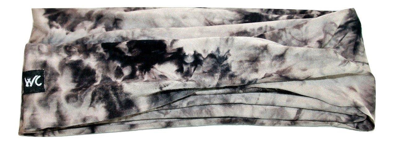 61ec71484e07 Extra Wide Headband CHARCOAL TIE DYE Jersey Soft Cotton
