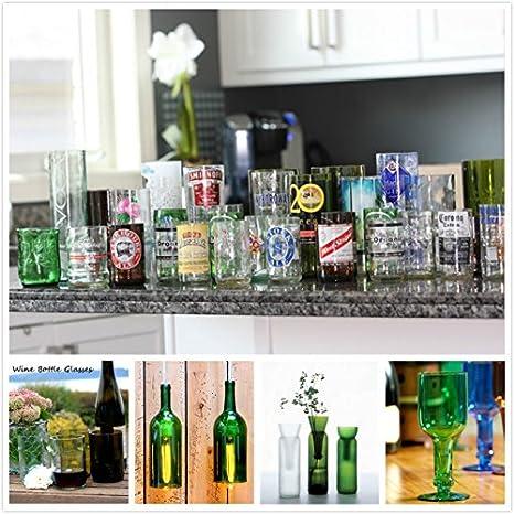 Botella de cristal de corte, [Gen-2 Versión] Elite Stained Glass Jar corte kit de herramienta de la copa de vino Grabado para el bricolaje cristalería, ...
