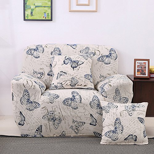 Slipcovers Patterned (Single Seater Sofa Cover Protector Stretch Arm Chair Slipcover by Yunhigh - Patterned)