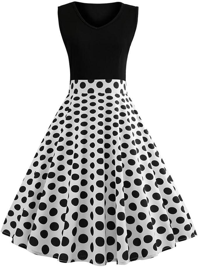 M/ädchen Retro Vintage Rockabilly Kleid Partykleider Cocktailkleider Im 50er-Jahre-Stil