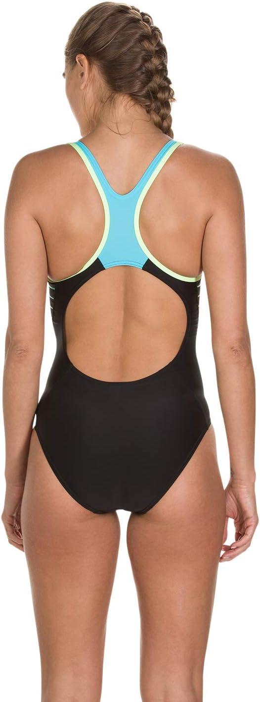 Speedo Damen Badeanzug Fit Laneback Swimsuit