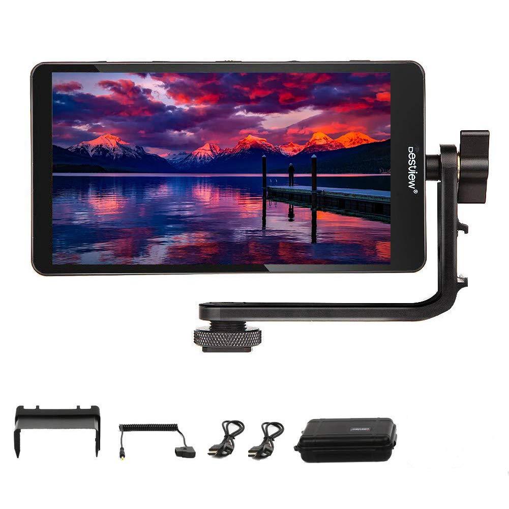 カメラ用液晶モニター 5.5インチIPS フルHD 1920x1080 オンカメラビデオモニター 超薄型 4K 外部液 晶モニター HDMI信号出力 カメラフィールドモニター DSLR デジタル 一眼レフやビデオカメラ用   B07R59NTBC