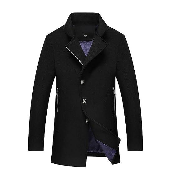 d026059f951e nihiug Men Winter Slim Woolen Coat Business Mantel Herren Winterjacke  Outwear Wintermantel Mens Coat Jacket,