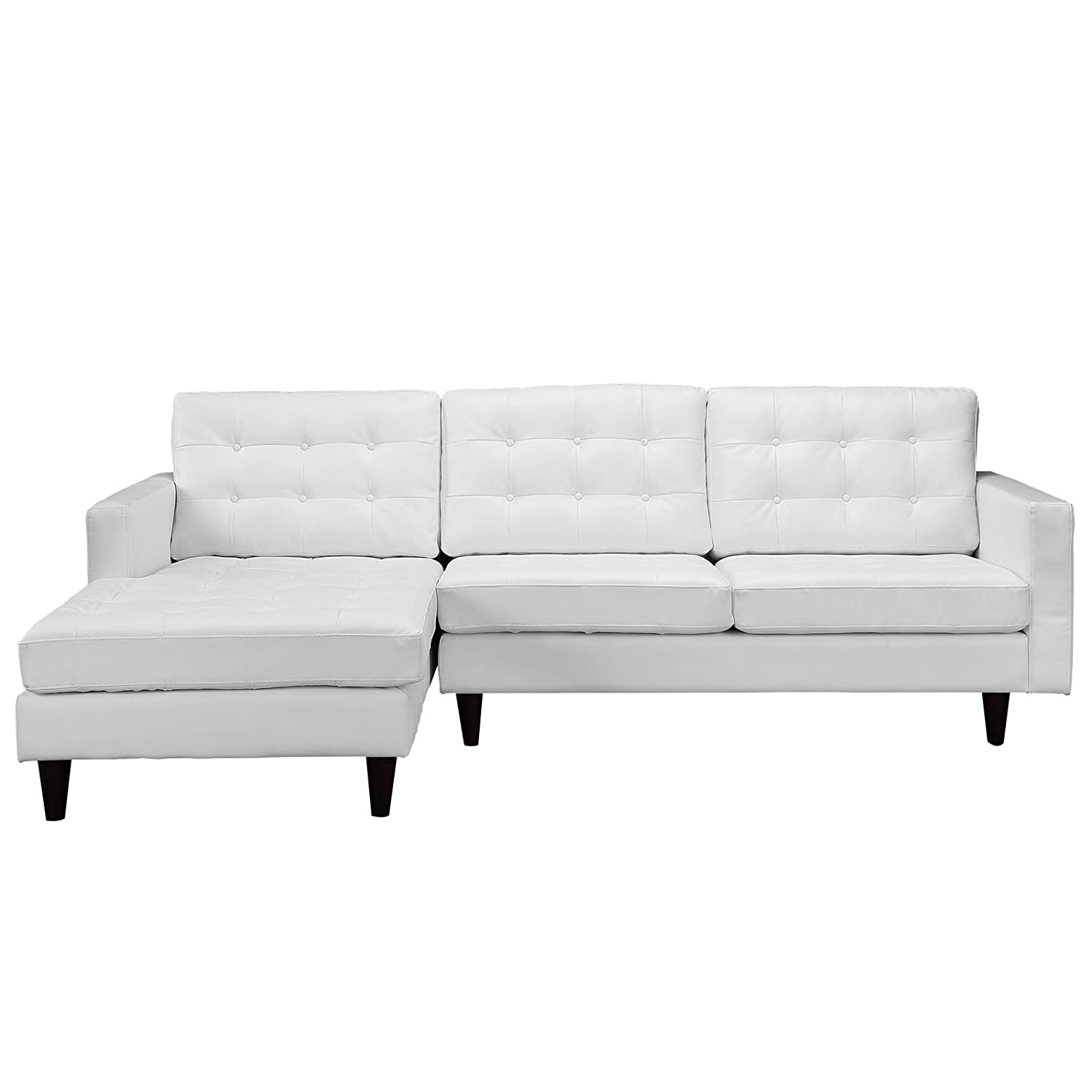 Amazon Modway Empress Left Facing Leather Sectional Sofa in