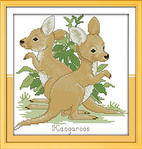 Happy Forever Cross Stitch Animals, kangaroo
