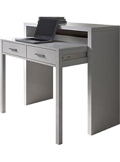 Mesa escritorio desplazante blanco artic y roble canadian ...