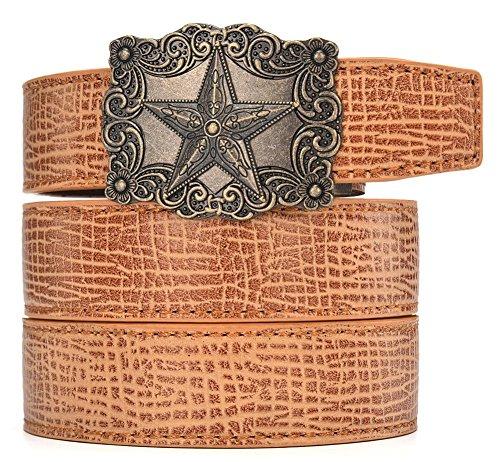 Belt Buckle Warrior (Men's belt,symbol of warrior leisure jeans adjustable automatic button Buckle Ratchet Leather Wide 30mm)