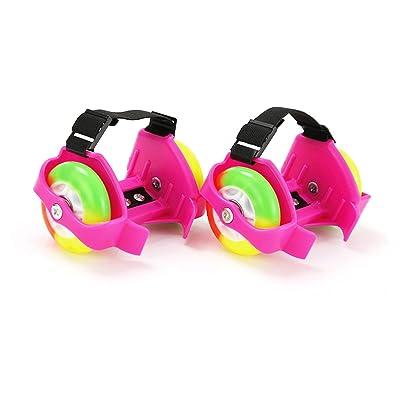 Adesugata enfants Rouleaux Talon Patins–-- clignotant Patins à roulettes réglable au niveau du talon à chaussures Patins, rouleau à LED clignotant Chaussures Talon Skate Roue