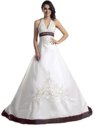 For ivory halter wedding dresses