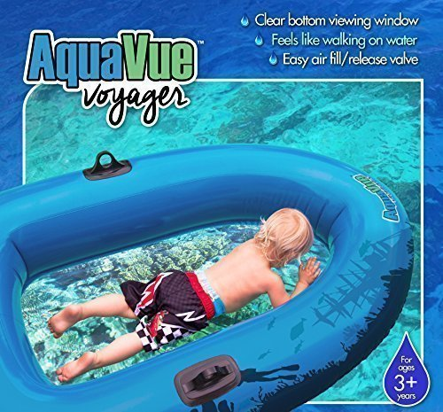 Sieco Design AQUAVUE Voyager, Clear Bottom Inflatable Raft, for Kids and Adults