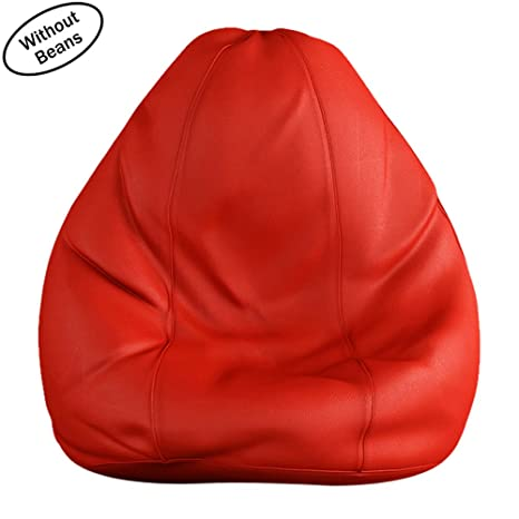 df4d3e1178 Tulip XXL Teardrop Bean Bag Without Filling (Red) - Bean Bag   Home  Furnishing   Bean Bag Covers   Furniture  Amazon.in  Electronics