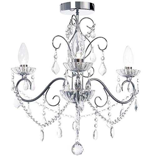 bathroom chandelier 9 lights ip44  amazon co uk  lighting