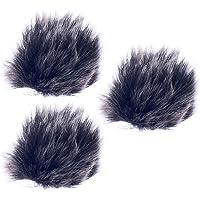 Perfk 3x MIC Windscreen Windshield Wind Muff For Lapel Lavalier Clip-on Microphone