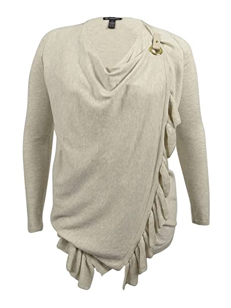 c34fd6cd2ebe0 INC International Concepts Women s Ruffled Wrap Sweater at Amazon ...