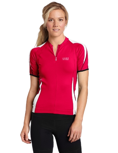 Gore Bike Wear Men's Power 2.0 Lady Jersey, Berry Red/White, Medium