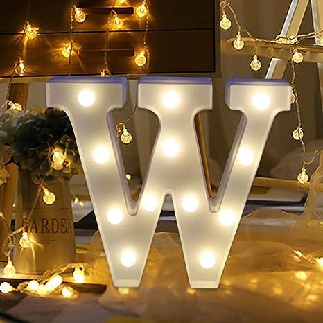 Letras LED con luz de alfabeto, mando a distancia Yanvan con ...