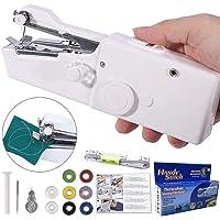 DUTISON Machine à Coudre portative Mini Machine à Coudre Portable Manuelle Electrique Machine à Coudre DIY Débutant Blanc